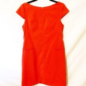 Eliza J Orange Shift Dress W/ Pockets Sz 10